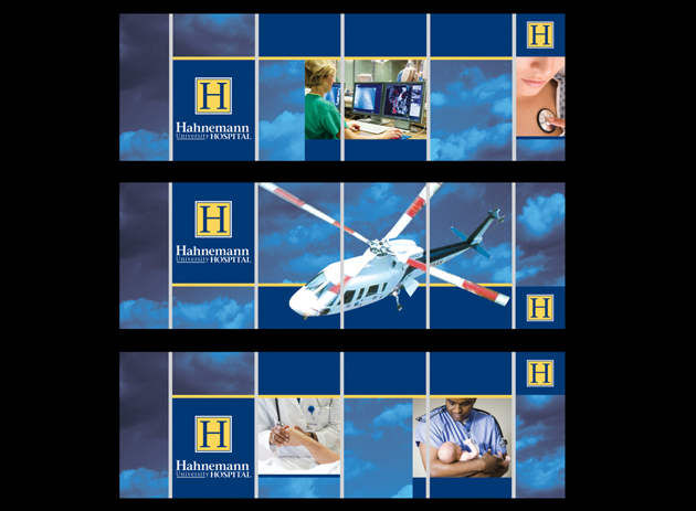 Signage for Hahnemann University Hospital, Philadelphia, PA